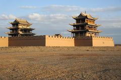 Ville de JiaYuGuan photo stock