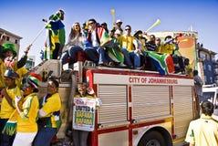 Ville de Johannesburg - 4 unis Bafana Image stock