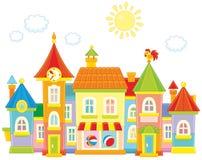 Ville de jouet illustration libre de droits