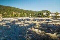 Ville de Kongsberg, Norvège photo stock