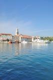 Ville de Krk, île de Krk, Mer Adriatique, Croatie Images libres de droits