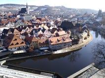 Ville de Krumlov de ½ d'ÄŒeskà dans la République Tchèque images stock