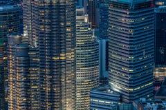 Ville de Kuala Lumpur la nuit Photographie stock