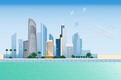 Ville de l'Abu Dhabi Illustration Libre de Droits