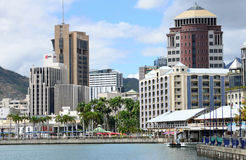 Ville de l'Afrique, Port-Louis en Mauritius Island Images libres de droits