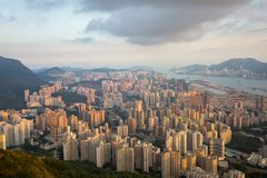 Ville de l'Asie avec le trafic photos stock