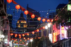 VILLE DE L'ASIE SINGAPOUR CHINE Photo stock