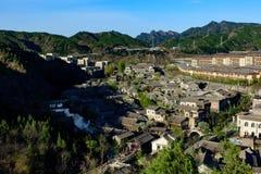 Ville de l'eau de Gubei, le comté de Miyun, Pékin, Chine Image libre de droits