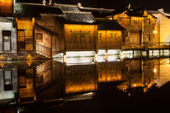 Ville de l'eau de secteur de Wuzhen Image libre de droits