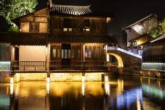 Ville de l'eau de secteur de Wuzhen Images libres de droits