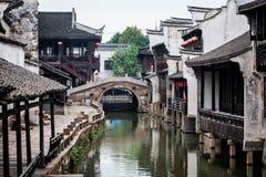 Ville de l'eau de secteur de Wuzhen Photos libres de droits