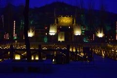 Ville de l'eau de Taihang pendant l'automne Photo stock