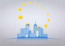 Ville de l'Europe Image libre de droits