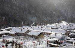 Ville de l'hiver Image libre de droits