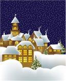 Ville de l'hiver illustration de vecteur