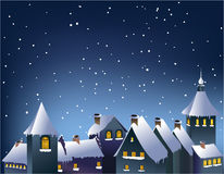 Ville de l'hiver Images libres de droits