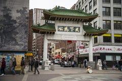Ville de la Chine à Boston Images stock