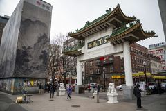 Ville de la Chine à Boston Photographie stock libre de droits