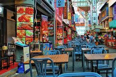 Ville de la Chine à Singapour photographie stock libre de droits