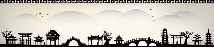 Ville de la Chine illustration libre de droits