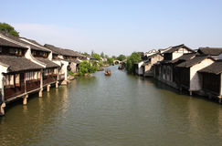Ville de la Chine - Wuzhen un roi Photos libres de droits
