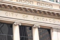 Ville de la construction de Chicago Photos stock