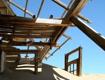 ville de la Namibie de kolmanskop d'ordinateur de secours Image stock