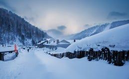 Ville de la neige de la Chine photo libre de droits