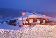 Ville de la neige de la Chine Photographie stock libre de droits