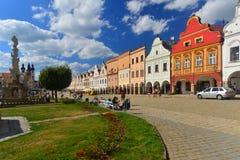 Ville de la Renaissance de Telc, République Tchèque Photographie stock libre de droits