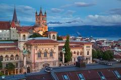 Ville de Lausanne Photos libres de droits