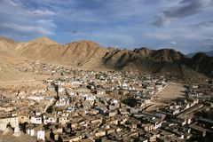 Ville de Leh Photo stock