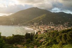 Ville de Levanto Photographie stock
