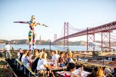 Ville de Lisbonne au Portugal image libre de droits