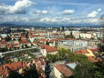 Ville de Ljubljana Photo libre de droits