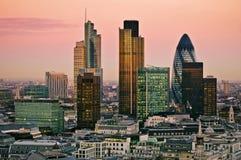 Ville de Londres au crépuscule Images libres de droits