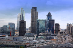 Ville de Londres avec le gratte-ciel Photos libres de droits