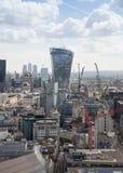 Ville de Londres, bâtiment de talkie-walkie Photos stock