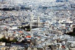 Ville de Londres montrant la cathédrale de St Paul Photographie stock