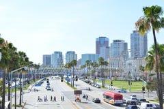 Ville de Long Beach Image libre de droits