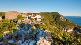 Ville de Lubenice en île de Cres Photographie stock