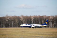 Vol de Ryanair de Lublin vers Dublin Photos stock