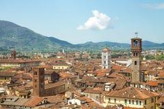 Ville de Lucques en Toscane Image stock