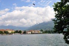Ville de Lugano sur le lac lugano, Suisse Photos libres de droits
