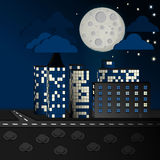 Ville de lune Photographie stock