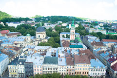 Ville de Lviv image stock