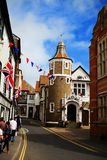 Ville de Lyme REGIS sur la côte de Dorset Image libre de droits