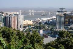 Ville de Macao et son horizon Photos stock