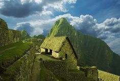 Ville de Machu-Picchu Photo stock