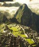 Ville de Machu-Picchu au Pérou images libres de droits
